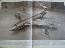 Handley Page Victor bomber airplane C E Turner 1955 old print