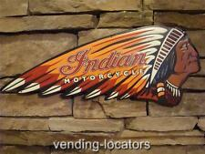 Indian Motorcycle Metal Signs Chief Harley Davidson Scout Vintage Style American