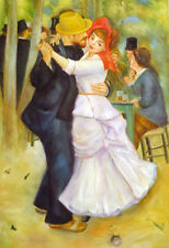 "Auguste_Renoir  Repro  Oil Painting - Dance at Bougival - size 24""x36"""