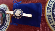 TIE CLIP - TIE BAR - PRESIDENTIAL 24K GOLD PLATED- PRESIDENTIAL SEAL - HANDMADE