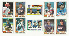 VINTAGE 1982 TOPPS BASEBALL CARDS – MINNESOTA TWINS – MLB