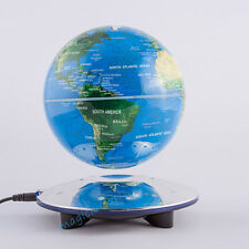 6'' Magnetic Levitating Globe Anti-Gravity Floating Rotate Silver Office Decor
