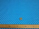 Polycotton Fabric * SPOTTED POLKA DOT * TURQUOISE with TINY 4mm WHITE SPOTS