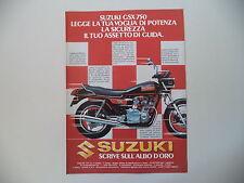 advertising Pubblicità 1980 MOTO SUZUKI GSX 750