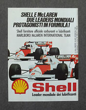 G054-Advertising Pubblicità-1984 - SHELL E McLAREN CARBURANTI E LUBRIFICANTI