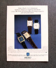 [GCG] I801 - Advertising Pubblicità -1979- SEIKO QUARTZ LE CONNAISSEUR