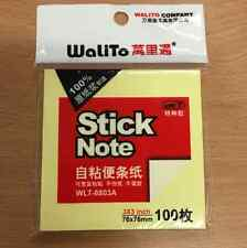 Stick-It Notes 76x76mm Sticky Note Pad Office Stationary Yellow Square 100 Notes