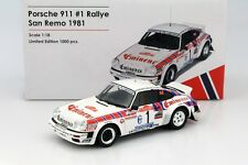 Otto Mobile Porsche 911 SC Groupe 4 Rallye San Remo 1981 #1 1/18 LE of 1000 New!