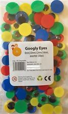 100 Googly Eyes Wiggly Wobbly Coloured Background Black Pupil Craft