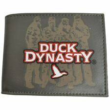A&E Television Series Duck Dynasty Crew And Camo Ducks Bifold Mens Wallet Brown
