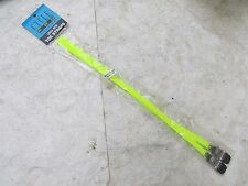 """CYCLE PRO NEON YELLOW 17"""" TOE CLIPS STRAPS TRACK FIXIE NOS ROAD TOURING BICYCLE"""