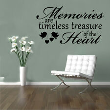 BIG Memories Heart Birds Quote Wall Stickers Art Room Removable Decals DIY