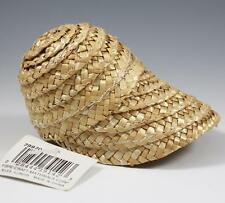 """Fibre Craft Straw Sun Bonnet Hat 7"""" for Dolls or Bears NEW w/Tag"""