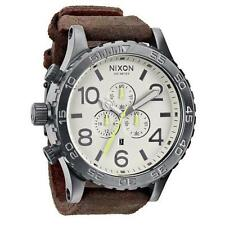 New Authentic NIXON Watch 51-30 CHRONO Gunmetal Brown A124-1388 A1241388