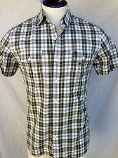 Timberland Button Down Shirt Mens - Small - Green & White - 100% Cotton- NWT $58
