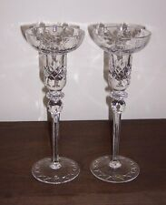 "2 Rogaska Gallia Tall Candlestick 10"" - Lead Crystal Glass - Yugoslavia - X Base"