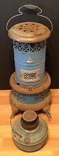 OLD VTG ANTIQUE PERFECTION SMOKELESS OIL BLUE PORCELAIN ENAMEL INDOOR HEATER