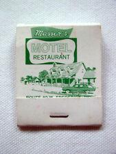 Masser`s Motel Restaurant Frederick Md Full Unused Matchbook Cover Route 40 W