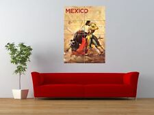 TRAVEL PAINTING MEXICO MATADOR BULLFIGHT GIANT ART PRINT PANEL POSTER NOR0353