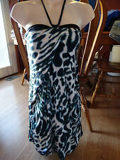 GUESS by Marciano Animal Print Halter Dress Size M NWT $158
