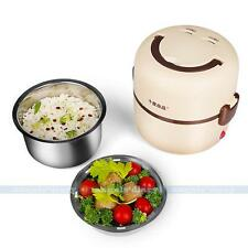 UKPLUG Electric 1.3L Lunch Container Mini Rice Cooker Stainless Steel Steamer#A1