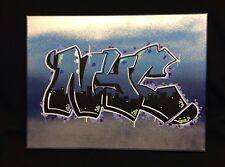 NYC graffiti 12 X 16 spray paint marker acrylic Signed By The Artist Original