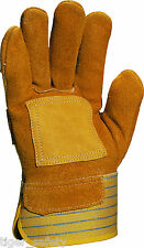 Delta Plus Venitex DS302R Cowhide Canadian Rigger Safety Work Gloves Docker PPE