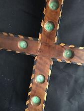 Rare croix reliquaire de chemin de croix de couvent religieuse reliquary Cross