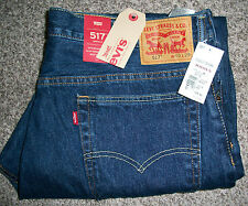 LEVI'S 517 Slim Boot Cut Medium Dark Blue Denim Jeans NWT 34x30 $60