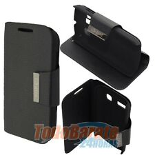 FUNDA LIBRO IMAN SOPORTE NEGRO PARA ALCATEL ONE TOUCH POP C3