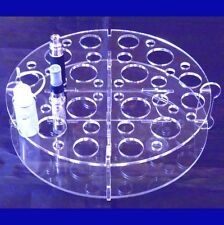 Clear Round E-Cig Stand For E-Cigs, Vape, Mods & Juice 20cm Round X 4cm High