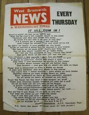 WEST BROMWICH NEWS WEDNESBURY TIMES HARRY HARRISON ATV VINTAGE NEWSPAPER POSTER