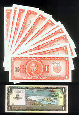 WHOLESALE - 25 EL SALVADOR 1 COLON CONSECUTIVE NOTES P # 133a with COLUMBUS UNC