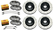 WILWOOD DISC BRAKE SET,D8-4 CALIPERS,DRILLED ROTORS,65-82 CORVETTE C-2,C-3