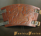 Medieval Knight Armor Runes Celtic Thor Hammer Design Leather Cuff Bracer