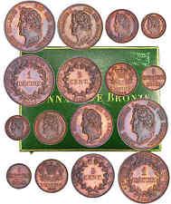 Louis-Philippe Ier - Coffret de la série Piéfort et de la série normale bronze