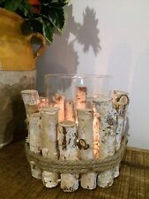 Rustic Tea Light Candle Holder Large Twig Lantern Wedding Table Centerpiece