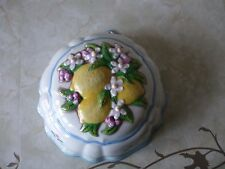 Franklin Mint Le Cordon Bleu Ceramic Jelly Mould Wall Hanging 1986 Lemons