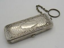 "Antique GERMAN SILVER 1920""s Coin Holder Key chain 41.3 grams - U1413"