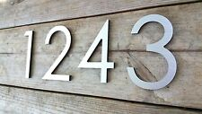 8'' Modern House Numbers Brushed Aluminum Minimalist Contemporary Stud Mounted