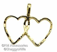 Intertwined Double Heart Two Hearts as One Charm EP Gold Plate Guarantee