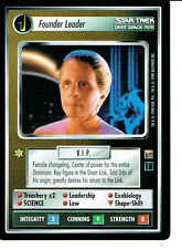 STAR TREK CCG DOMINION RARE CARD FOUNDER LEADER