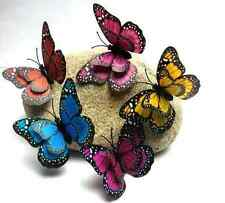 12pcs 3D Magnet Magnetic Butterfly Fridge Room Wall Sticker Decal Home Decor US