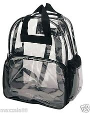 Travel Bag Unisex Transparent School Security Clear Backpack Book Bag Plastic