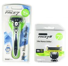 NEW Dorco Pace 7 World's First Seven Blade System -1 Razor + 8 Refill Cartridges