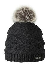 2017 NEW BARTS CLAIRE BLACK ADULT BEANIE FAUX FUR POM HAT 1385001 WOMEN'S LADY