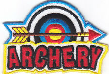 """""""ARCHERY"""" - IRON ON EMBROIDERED PATCH - Sport - Competition - Skill - Archery"""