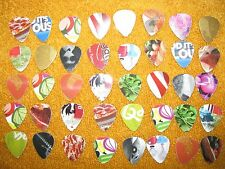 GUITAR PICKS (50)(HOME-MADE) (MADE WITH OLD CREDIT/GIFT CARDS)