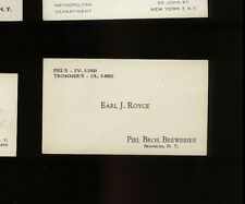 Business Card - Piel Bros. Breweries - c1950s New York City / Brooklyn, NY