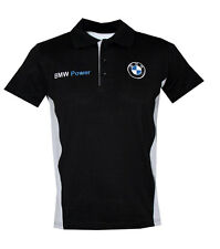 BMW black t-shirt with collar (size M ) - embroidered logos / M-Power
